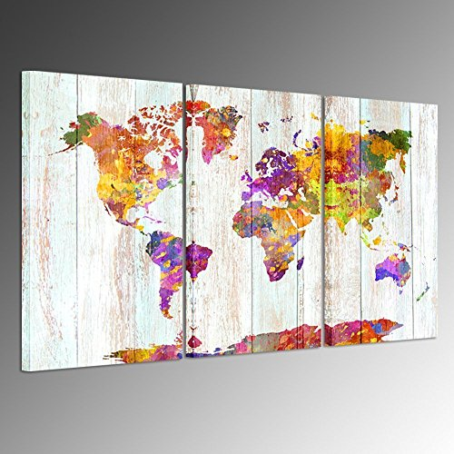 Kreative arts large size canvas prints wall art watercolor push kreative arts large size canvas prints wall art watercolor push pin travel world map modern wall decor stretched gallery canvas wrap giclee print ready to gumiabroncs Choice Image