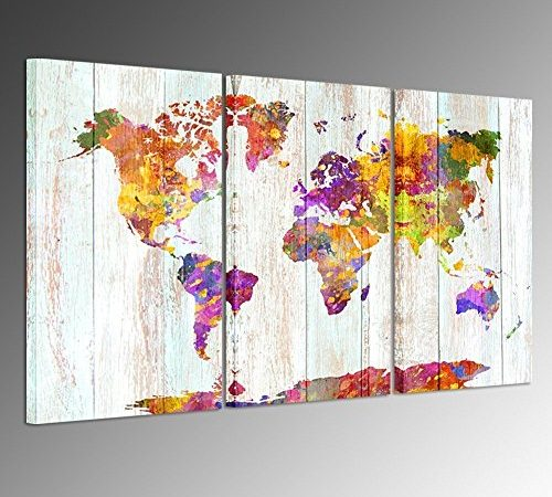 Kreative arts large size canvas prints wall art watercolor push kreative arts large size canvas prints wall art watercolor push pin travel world map modern wall decor stretched gallery canvas wrap giclee print ready to publicscrutiny Gallery